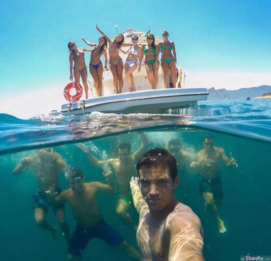 20张摄影师用1张照片同时呈现陆地、海底2个世界