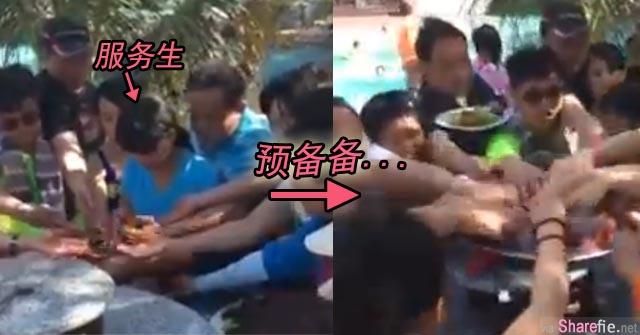 继泰国「铲虾」后, 中国游客又一巨作 越南6秒抢水果