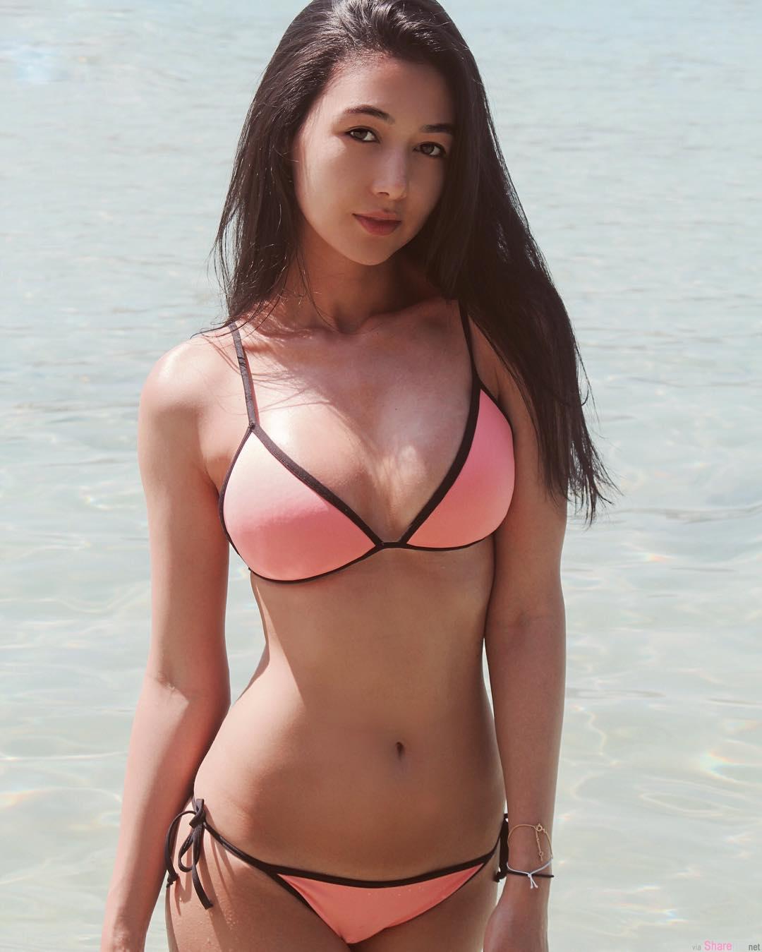 巴西日本混血美女!身材果然有拉丁美洲的fu 侧露蜜臀太养眼了