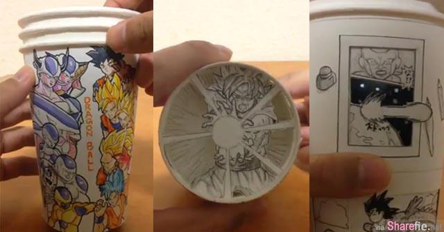 纸杯动画达人最新力作!这次轮到《七龙珠》龟派气功轰出的效果实在太惊人
