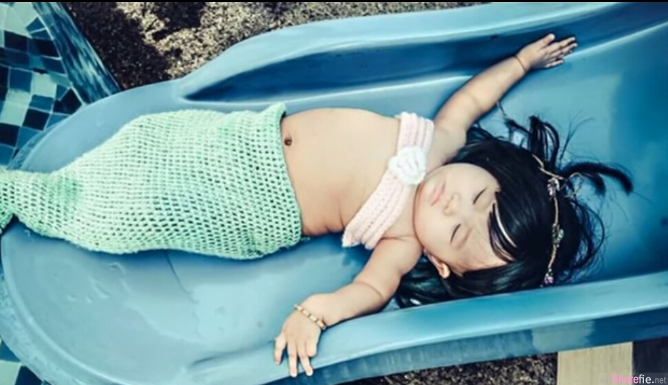 这只网络爆红小小美人鱼 让每个妈妈都好想为自己女儿也这样打扮