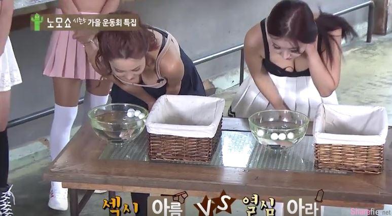 韩国综艺节目又在秀下限...爆乳正妹含住这样东西 结果下一秒喷出