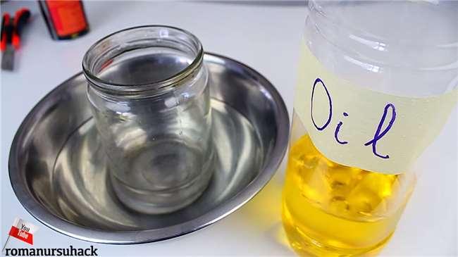 不用刀片?这招「油水切割术」可以把玻璃瓶完美切开