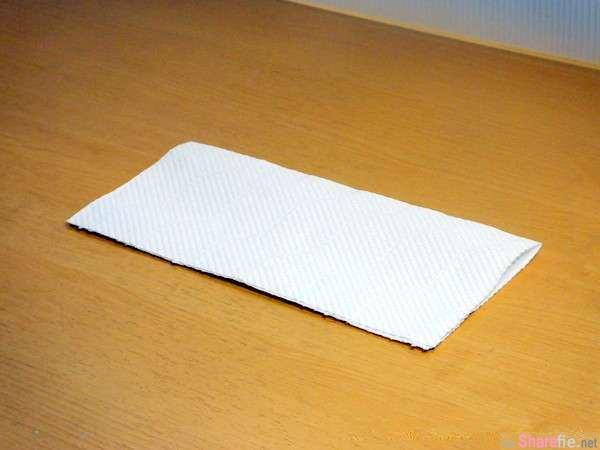 一张「厨房卫生纸」加4条橡皮筋,教你制作一个超实用的配备