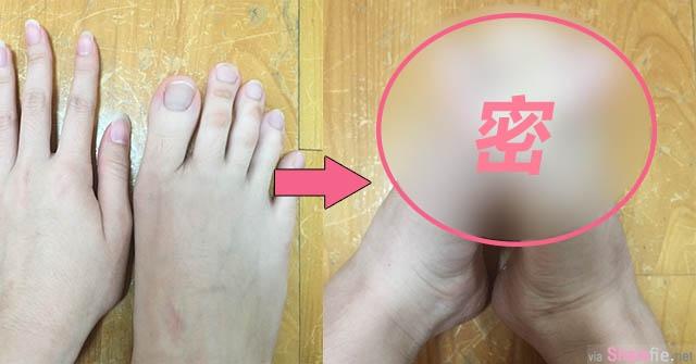 这个女生的脚 竟然可以十趾紧扣 网友:绝对不是只有我看成手