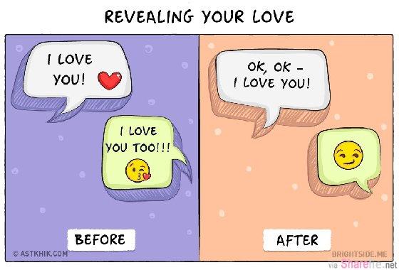 婚前vs.婚后的超写实幽默插画  看到第三张99%的人都觉得我也是这样