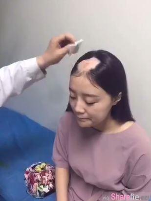(更新影片)这名女孩挑战用电钻啃玉米 结果下一秒头髮被电钻捲走一大块惨变秃驴