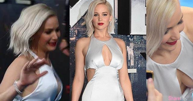 Jennifer Lawrence 性感宣传电影X战警:天启  焦点全在她又跌倒还差点走光