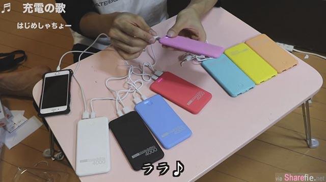 他用8个行动电源交互连接给手机充电,没想到一觉醒来后发现…