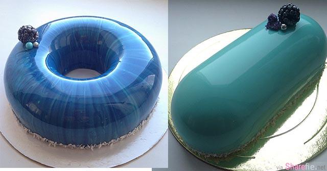 这位甜点师做的蛋糕 完美的平滑外层就像是一面镜子