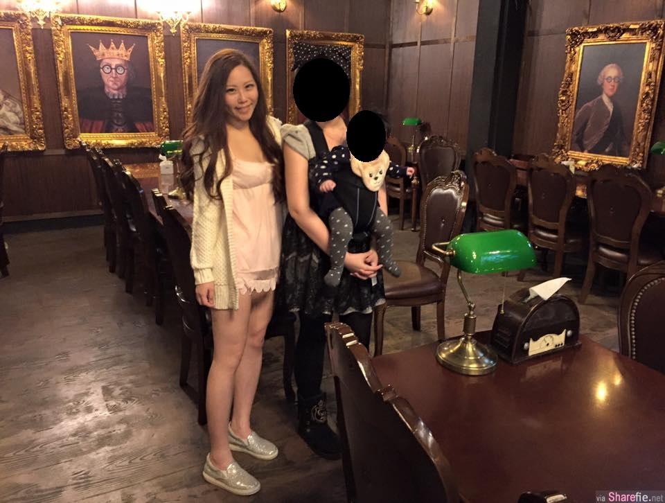 这张照片中的女生小露性感引起网友热议 网友:她没穿裤子!