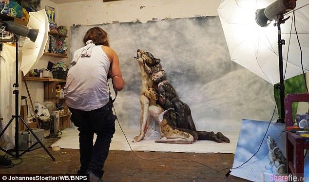 这匹狼有什么不对劲吗?当你仔细一看就会发现其中的秘密