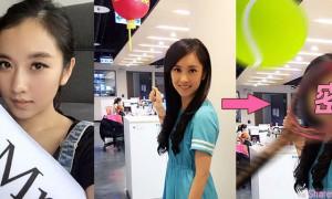中视甜美主播李佳玲脸书求p图 恶搞p图让主播哭笑不得