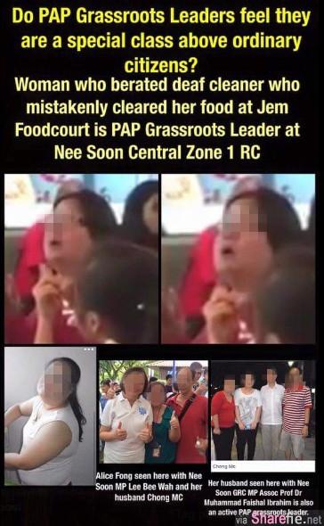 网络疯传新加坡妇女辱骂清洁工 耳聋就去当乞丐  人肉搜索后原来她是...