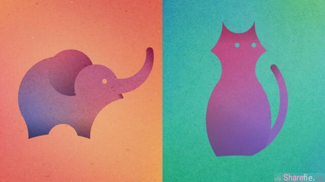 只要13个圆圈就能勾画出这13只动物,原来她的灵感来至于这个鼎鼎有名的App Logo