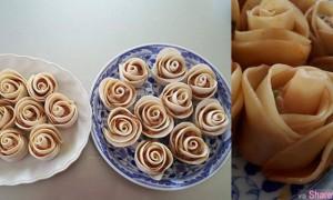 """这一朵朵的""""玫瑰花""""水饺  美的舍不得吃  网友分享三个简单步骤教你""""包""""玫瑰水饺"""