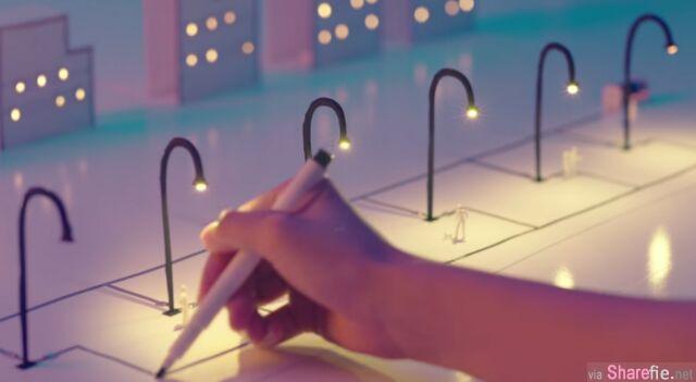 超神奇!只要把这支笔在纸上画一画,就能让LED在纸上发光