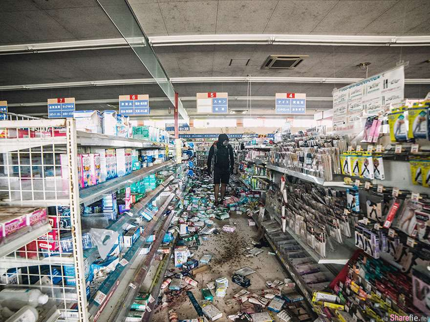 大马摄影师擅闯日本福岛隔离区拍摄已变成废墟的城镇   网友:想红想疯了