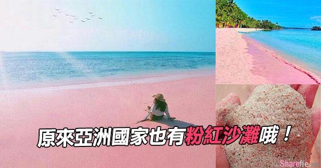原来亚洲也有粉红沙滩? 一整片粉红超浪漫的