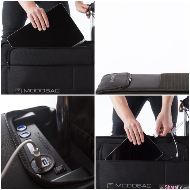 她在机场跨坐在行李箱上 下一秒 她的举动让路人都看傻眼  原来行李箱有玄机