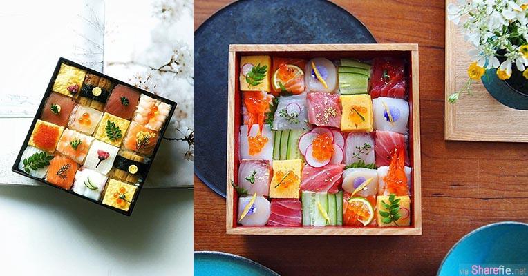 「马赛克寿司」 色彩分明的造型让人食慾大增