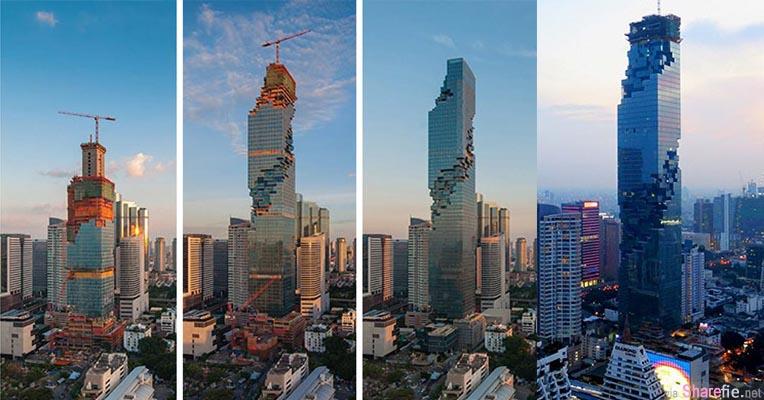 泰国最新地标MahaNakhon摩天高楼还没建好就开幕? 到了夜晚亮灯才知道这是最美