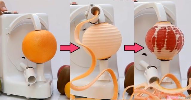 橙子专业削皮机  15秒就能把橙皮剥的一干二净  网友: 太纾压啦!