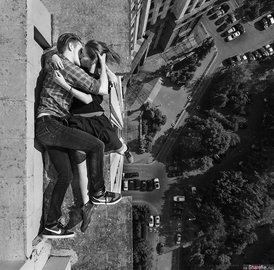 俄罗斯美少【最危险自拍】每张照片都这么的惊险万分!