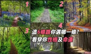 这6条路, 你选哪一条, 看穿你性格及命运