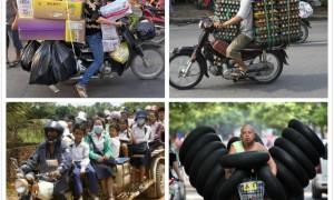 越南人骑摩托简直神乎其技!像在开罗里!