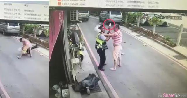这位厨师违规停车被警察开罚单 他竟拿菜刀狂砍警察 血腥影片曝光