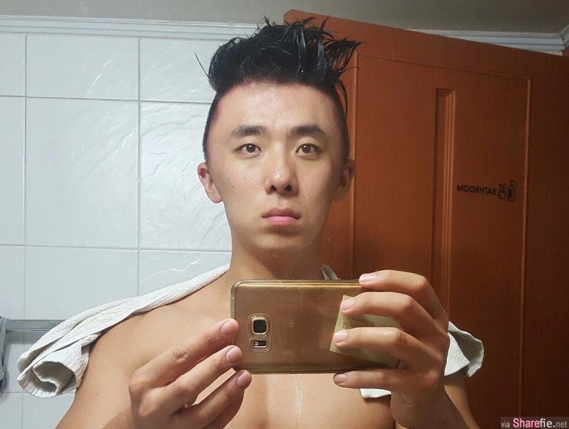 这名韩国男子想要改变形象到髮廊染髮 结果回到家里整个头肿到连爸妈也认不出