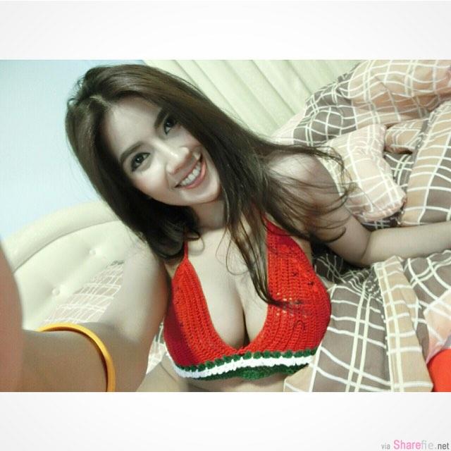 泰国巨乳细腰正妹 Fuengfah Suweeraya 性感露侧乳
