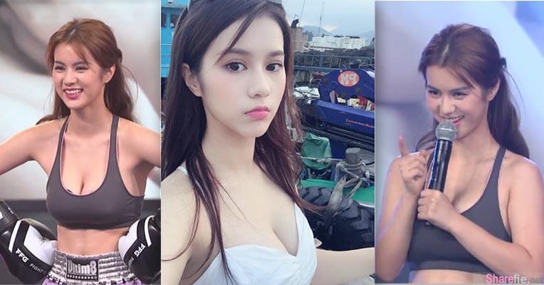 香港艺人女模 邓月平Larine 上节目打拳  36F爆乳荡漾让大会评审也把持不住