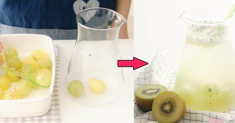 奇异果果冻球 !教你制作纯天然Q弹珍珠果冻汽水 夏天解渴就靠它