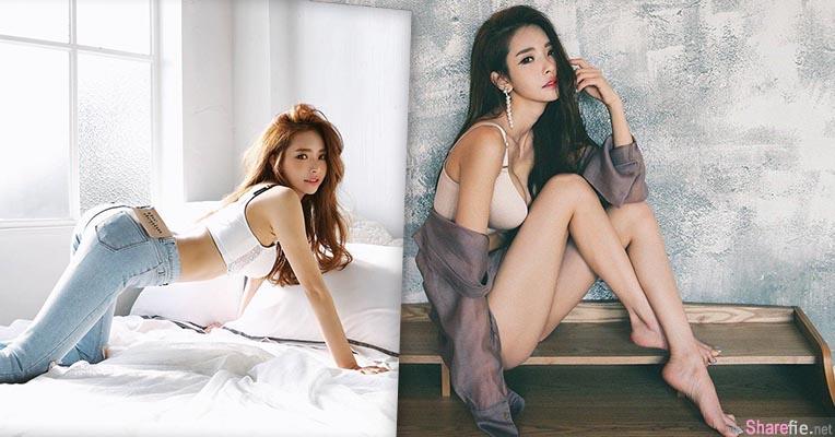 韩国气质嫩模  曲线太美 衣包不住的奶球