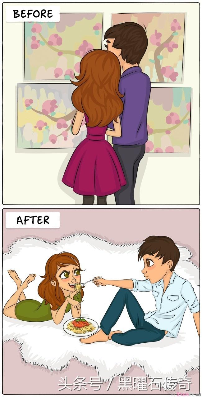 9张简单的漫画,让你看懂结婚前后男女之间态度的转变