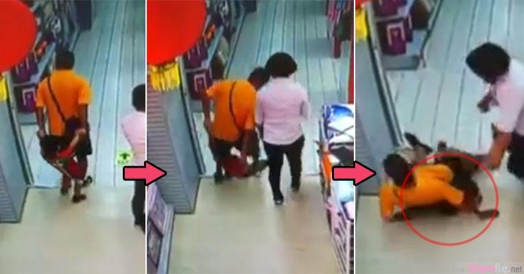 千万不要这样牵小孩走路!这名爸爸一个不小心整个跌坐在孩子身上  结果....