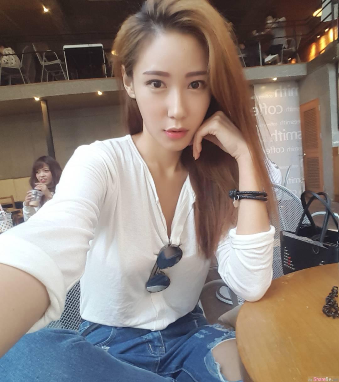 韩国美乳车模身材脸蛋超棒 网友:想和你一起吹吹风