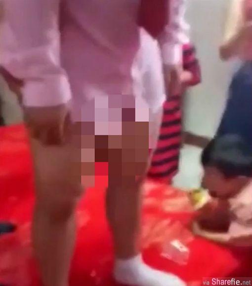 中国闹洞房「新娘为新郎当众口交」旁边竟然还有小孩全程观赏  网友: 新郎早泄
