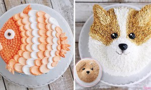 超逼真可爱的动物蛋糕 印尼甜点师巧手让蛋糕长出毛发