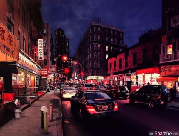 这法国人出门都不带相机!8张有灵魂的「都市手绘照片」,连招牌上的中文字都超写实