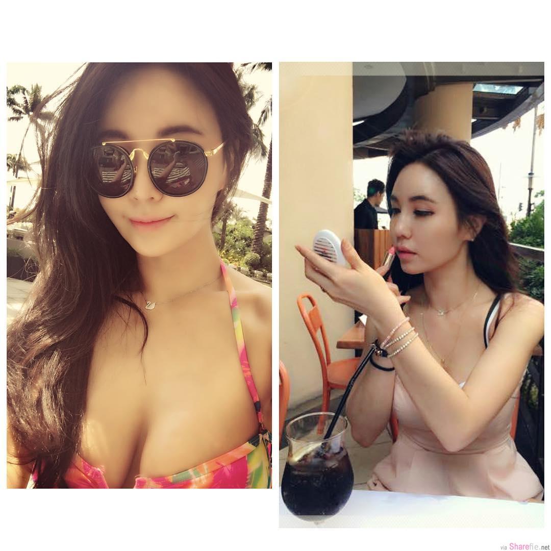 韩国火辣女星 姜艺彬 bikini展现诱人事业腺 礼服下滑露半球
