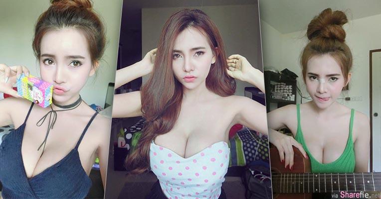 泰国正妹 Sutasinee Siriruke 超低胸露惊人深沟 网友:可以放两部手机