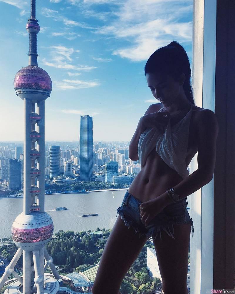 大陆正妹贡一极品身材曲线 网友:健身版的范冰冰