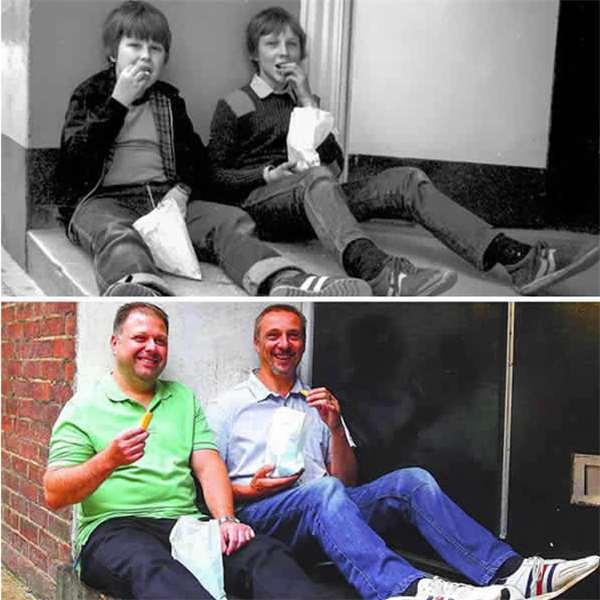 30张时光对比照 30年从黑白到彩色变化,回忆里都是洋葱!