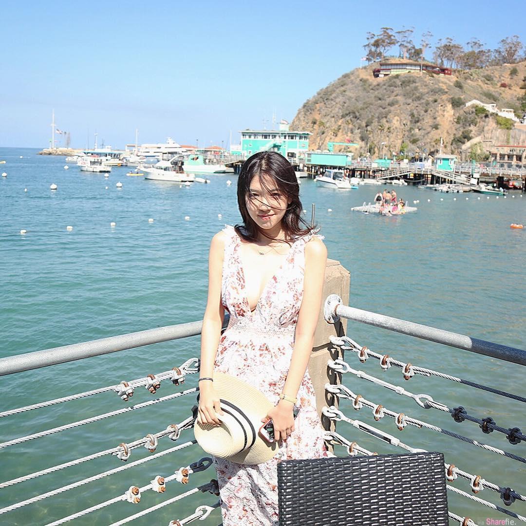 留美神级正妹Cindy Huang,有点甜有点兇,网友:可以到不行