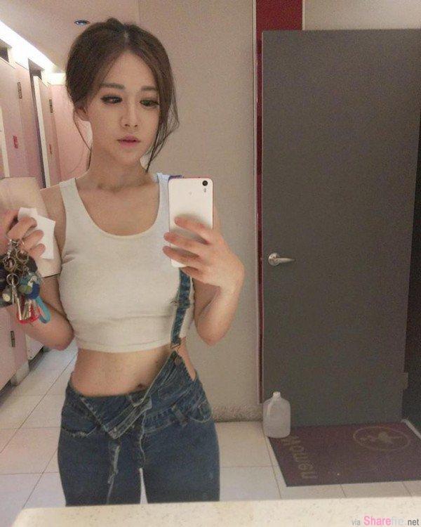 E奶正妹 陈歕 教室小背心大秀好身材 最后的大胆写真让网友想当男模