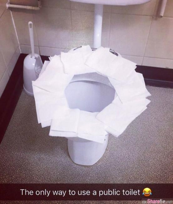 上公厕时垫一堆卫生纸在座垫上其实更脏  科学家:「上公厕最卫生的方法是.....」!