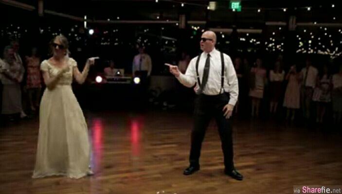 大惊喜!当爸爸拿出墨镜 整个舞蹈都变调了 震翻全场 !网友:老爸以前是夜店王子吗